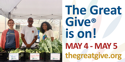 The Great Give Is On! May 4-5, 2021