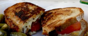 A grilled cheese sandwich from The Cheese Truck