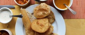 Brunch items at Thali Too