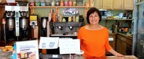 Louise deCarrone at Lulu's Coffee