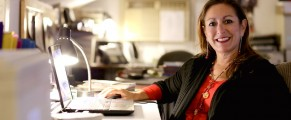 Stacey Battat in home office