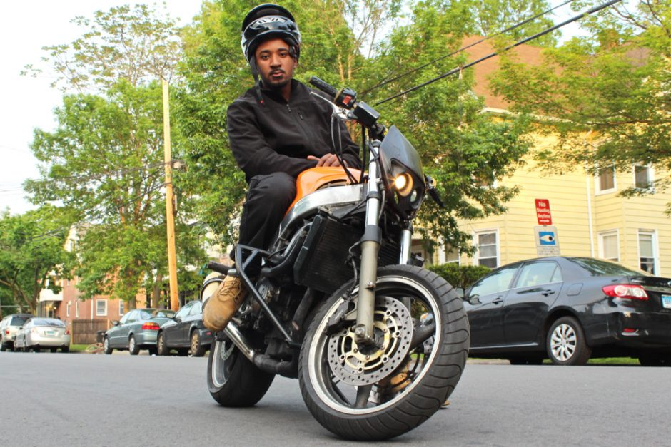 Robert Smith on his dirt bike