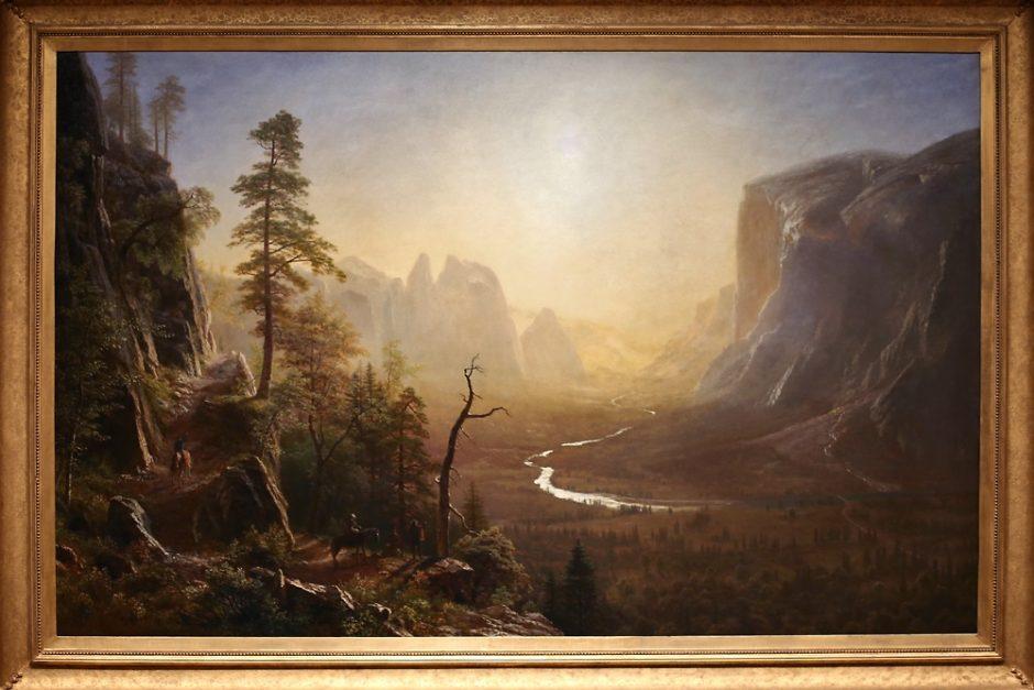 Yosemite Valley, Glacier Point Trail (c. 1873) by Albert Bierstadt - Yale University Art Gallery - New Haven, CT