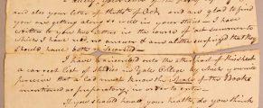 Letter from Eli Whitney to Eli Whitney Blake