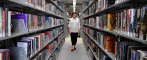 Karen E. Olson in Ives Main Library