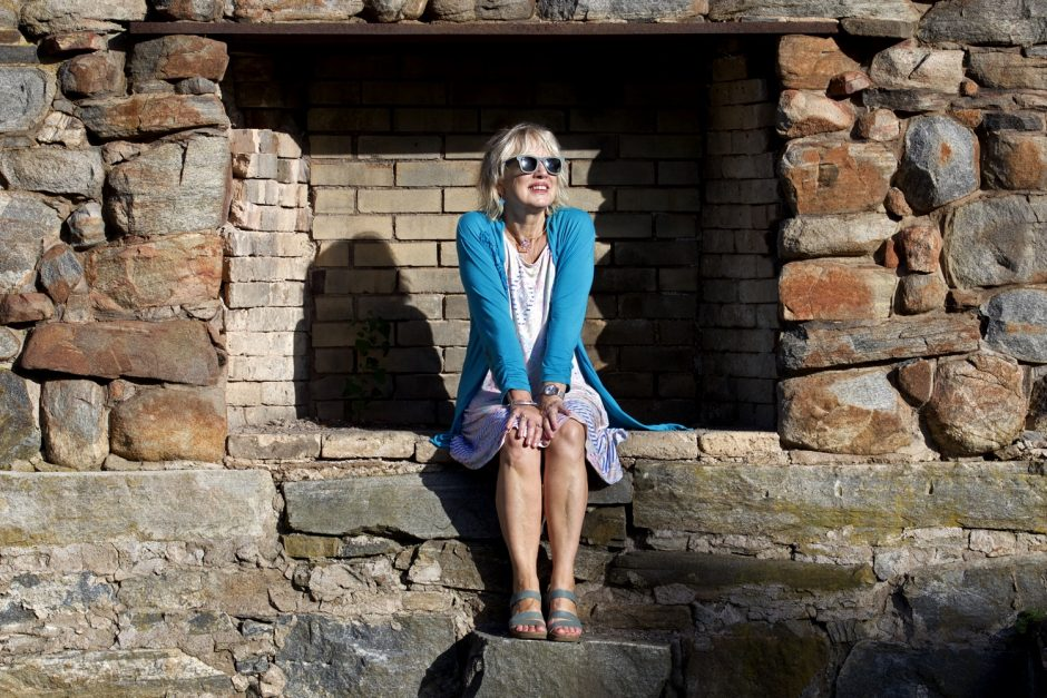 Sandi Shelton, a.k.a. Maddie Dawson, in Rollwood Park in Guilford, CT