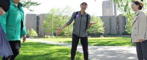 Shana Schneider with walking tour